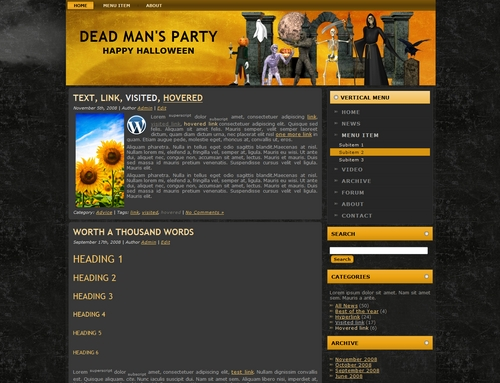 Product picture Halloween Templates  Wordpress - Blogger - HTML  MRR