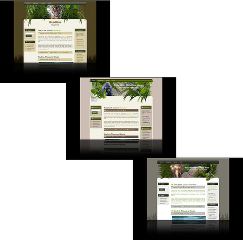 Product picture Wildlife Wordpress themes and website templates package