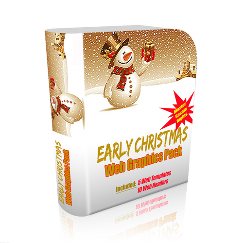 Product picture Early Christmas web graphics pack with MRR